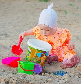 Child In Sand Box