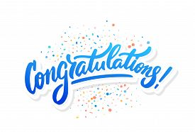 Congratulations. Greeting Card. Vector Hand Drawn Illustration.