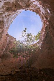 A Natural Cave On Khao Khanab Nam Mountain In Krabi, Thailand.