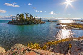 Red Rocks Granite Formation At Georgian Bay Killarney Provincial Park Ontario  Canada