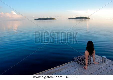 Watching The Sunset In Bora Bora