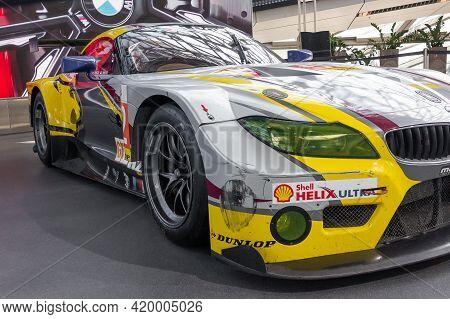Bmw Z4 Racing Sport Car In Bmw Museum In Munich, May 2021, Munich Germany.