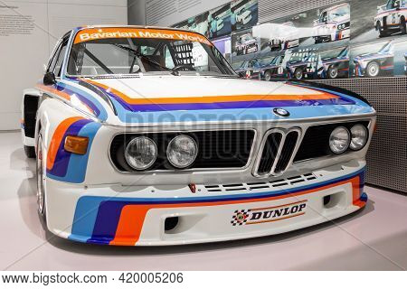Bmw M3 Racing Car In Bmw Museum, May 2021, Munich, Germany.