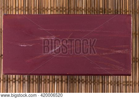 Striking Surface Of Partly Used Large Match Box For Household Matches With Ignition Marks Of Matches