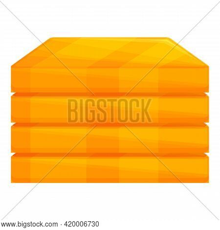 Stacked Gold Bars Icon. Cartoon Of Stacked Gold Bars Vector Icon For Web Design Isolated On White Ba