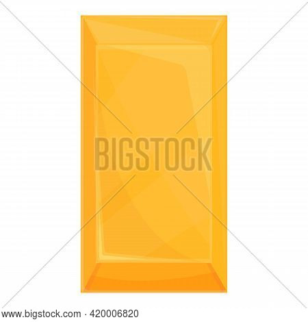 Golden Bar Fund Icon. Cartoon Of Golden Bar Fund Vector Icon For Web Design Isolated On White Backgr