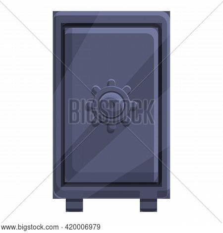 Deposit Safe Icon. Cartoon Of Deposit Safe Vector Icon For Web Design Isolated On White Background