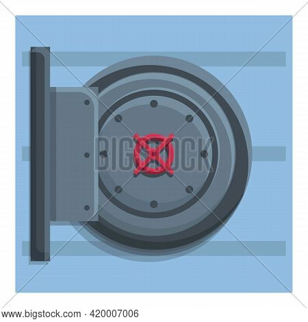 Deposit Round Safe Icon. Cartoon Of Deposit Round Safe Vector Icon For Web Design Isolated On White