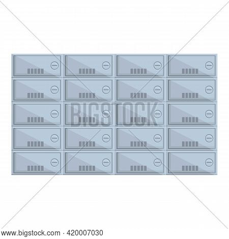 Deposit Room Access Icon. Cartoon Of Deposit Room Access Vector Icon For Web Design Isolated On Whit