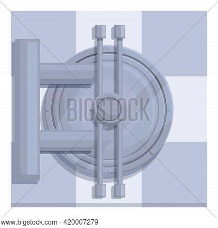 Deposit Room Protection Door Icon. Cartoon Of Deposit Room Protection Door Vector Icon For Web Desig
