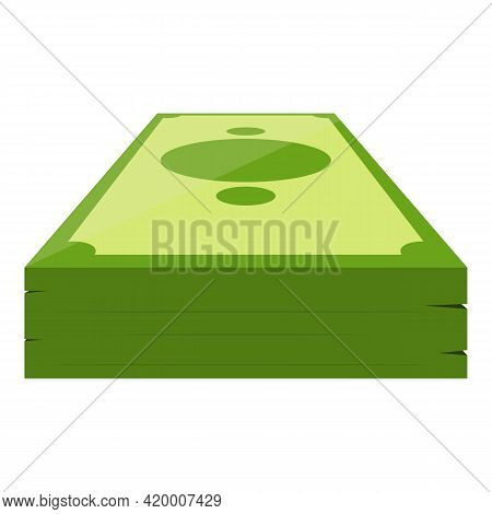 Bank Cash Dollar Icon. Cartoon Of Bank Cash Dollar Vector Icon For Web Design Isolated On White Back