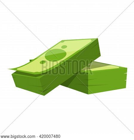 Bank Cash Finance Icon. Cartoon Of Bank Cash Finance Vector Icon For Web Design Isolated On White Ba