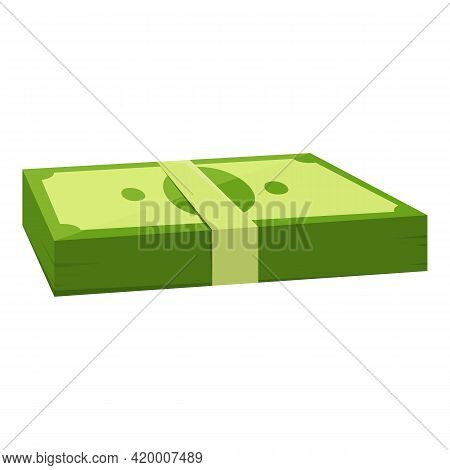 Bank Cash Payment Icon. Cartoon Of Bank Cash Payment Vector Icon For Web Design Isolated On White Ba