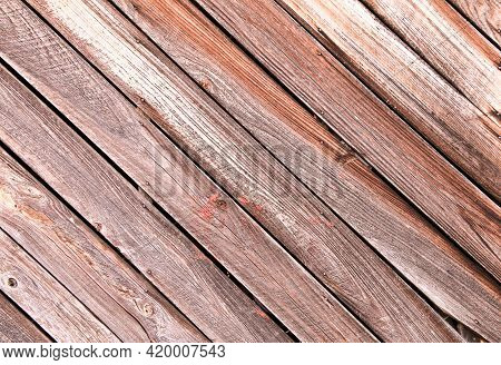 Diagonal Slanted Barn Wall Siding Boards Weathered Faded And Worn As An Interior Or Exterior Design