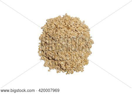 Sweet Organic Granola Oats In A Heap Pile On A Bright Empty Kitchen Counter Table Food Scene