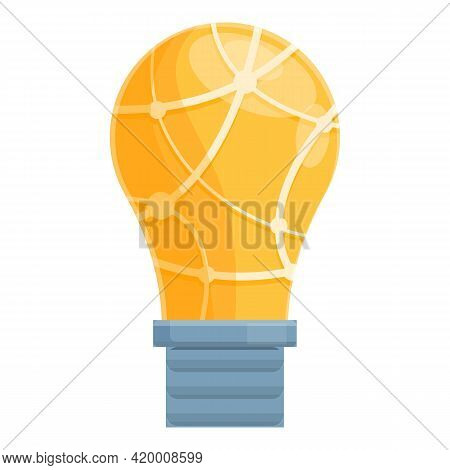 Smart Lightbulb Think Icon. Cartoon Of Smart Lightbulb Think Vector Icon For Web Design Isolated On