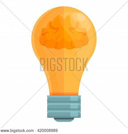 Smart Lightbulb Invention Icon. Cartoon Of Smart Lightbulb Invention Vector Icon For Web Design Isol