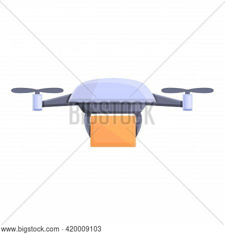 Drone Parcel Delivery Icon. Cartoon Of Drone Parcel Delivery Vector Icon For Web Design Isolated On