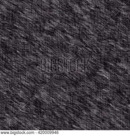 Rustic Brushed Charcoal Grey French Linen Woven Texture Background. Worn Neutral Old Vintage Cloth P
