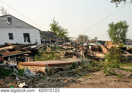 New Orleans, Louisiana, June 26, 2006: The Aftermath Of Hurricane Katrina In The Ninth Ward That Stu