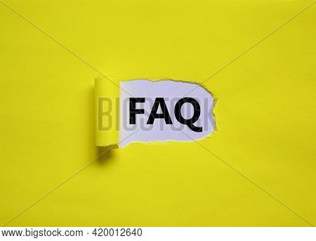 Faq, Frequently Asked Questions Symbol. Concept Words 'faq, Frequently Asked Questions' Appearing Be