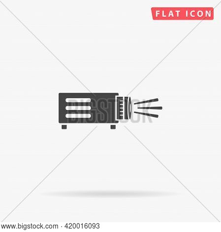 Projector Flat Vector Icon. Hand Drawn Style Design Illustrations.