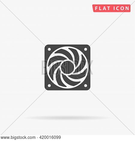 Computer Cooler Flat Vector Icon. Hand Drawn Style Design Illustrations.