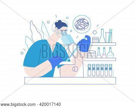 Test Tube Baby - Medical Insurance Illustration. Modern Flat Vector