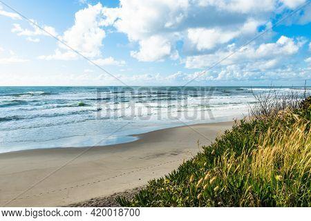 Landscape Of Sao Pedro De Maceda Beach. Ovar, Portugal.