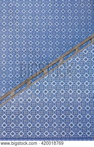 Vintage Azulejos, Traditional Blue And White Portuguese Tiles.
