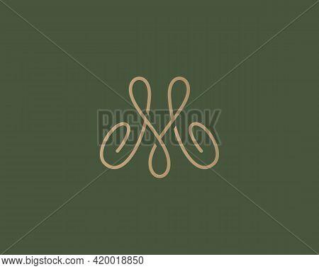 Abstract Graceful Letter M, Crown Logo Design. Linear Creative Monogram Symbol. Universal Elegant Ic