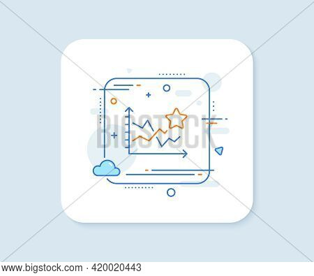 Ranking Star Line Icon. Abstract Square Vector Button. Stars Rating Sign. Best Stats Rank Symbol. Ra