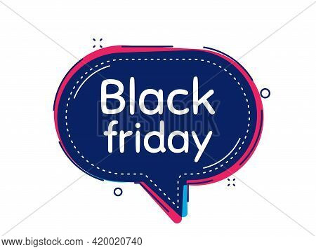 Black Friday Sale. Thought Bubble Vector Banner. Special Offer Price Sign. Advertising Discounts Sym
