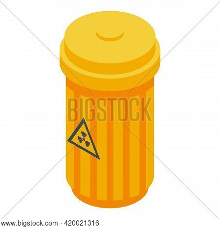 Lab Garbage Bin Icon. Isometric Of Lab Garbage Bin Vector Icon For Web Design Isolated On White Back