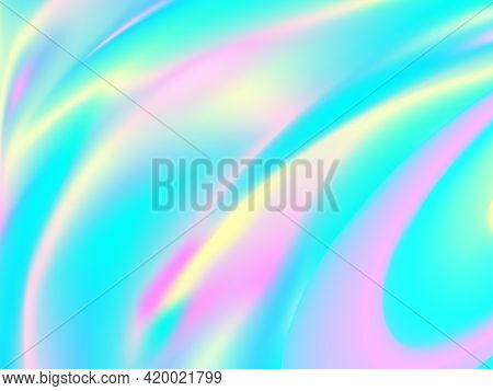 Vibrant Color. Hologram Fluid Background. Colorful Design. Futuristic Poster. Vibrant Liquid Color.