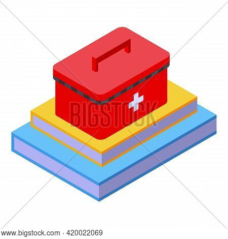 Research Scientist Aid Kit Icon. Isometric Of Research Scientist Aid Kit Vector Icon For Web Design