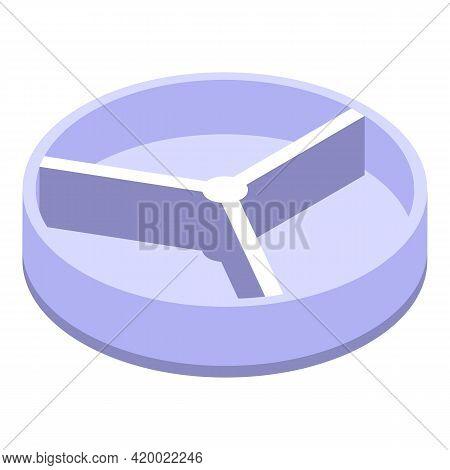Empty Petri Dish Icon. Isometric Of Empty Petri Dish Vector Icon For Web Design Isolated On White Ba