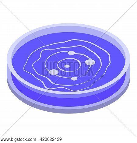Blue Petri Dish Icon. Isometric Of Blue Petri Dish Vector Icon For Web Design Isolated On White Back
