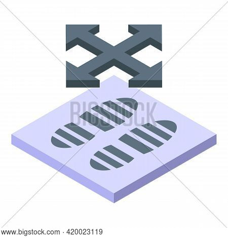 Direction Keep Distance Icon. Isometric Of Direction Keep Distance Vector Icon For Web Design Isolat