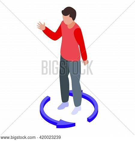 Boy Keep Distance Icon. Isometric Of Boy Keep Distance Vector Icon For Web Design Isolated On White