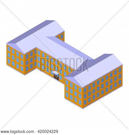 Campus Rooms Icon. Isometric Of Campus Rooms Vector Icon For Web Design Isolated On White Background