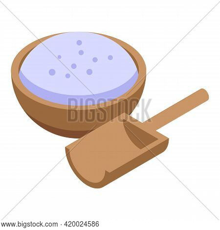 Cookie Flour Icon. Isometric Of Cookie Flour Vector Icon For Web Design Isolated On White Background