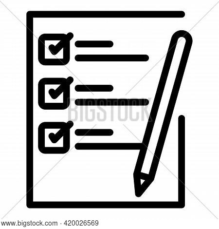 Human Resources To Do List Icon. Outline Human Resources To Do List Vector Icon For Web Design Isola