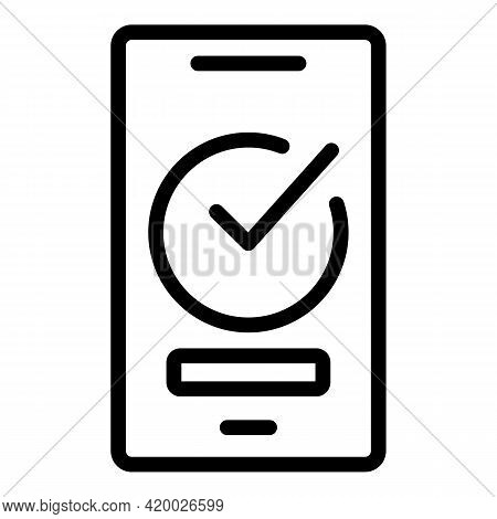 Human Resources Smartphone Icon. Outline Human Resources Smartphone Vector Icon For Web Design Isola