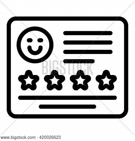 Human Resources Rating Icon. Outline Human Resources Rating Vector Icon For Web Design Isolated On W