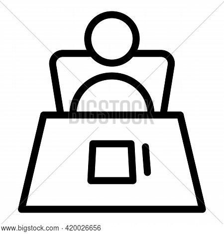 Human Resources Interview Icon. Outline Human Resources Interview Vector Icon For Web Design Isolate