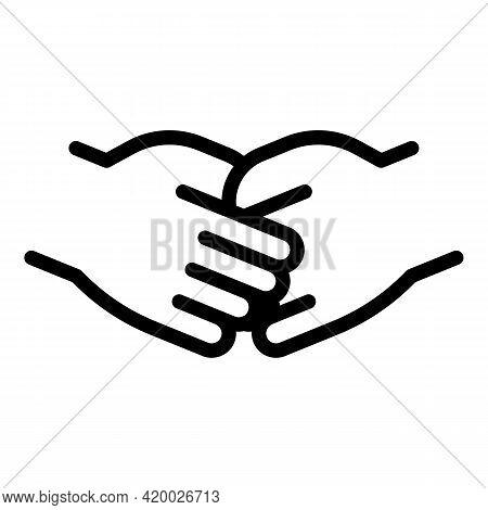 Human Resources Handshake Icon. Outline Human Resources Handshake Vector Icon For Web Design Isolate
