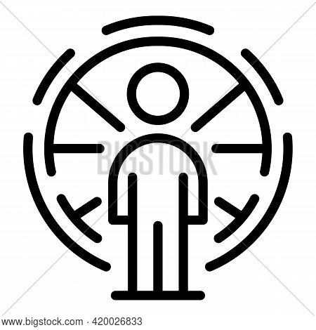 Human Resources Ability Icon. Outline Human Resources Ability Vector Icon For Web Design Isolated On