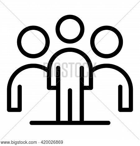 Human Resources Work Group Icon. Outline Human Resources Work Group Vector Icon For Web Design Isola