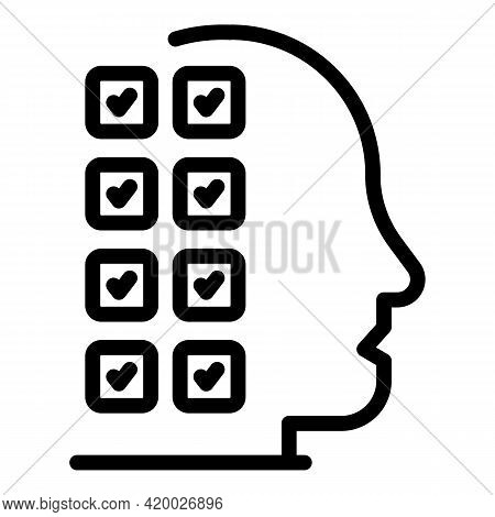 Human Resources Research Icon. Outline Human Resources Research Vector Icon For Web Design Isolated